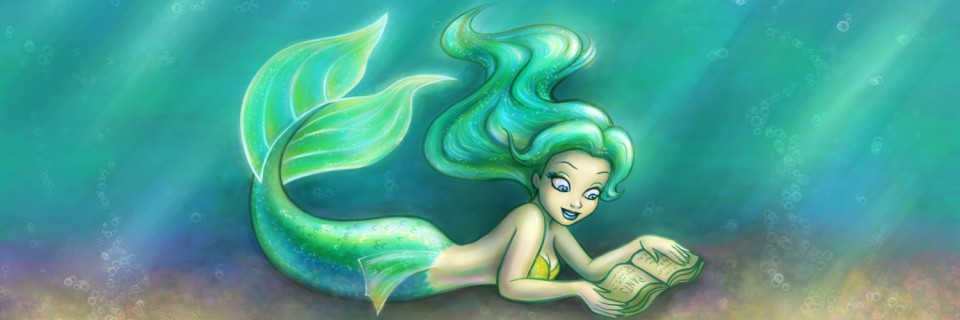 Mermaid in the Library